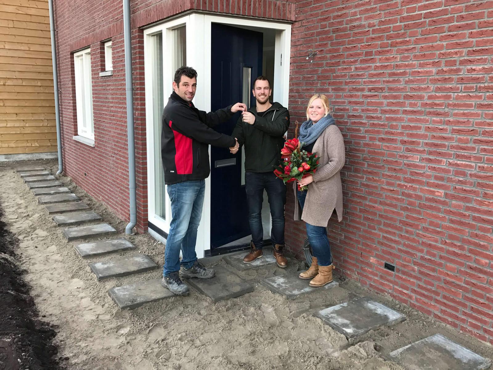Nieuwbouw woningen Hofwegen 25 a en B Meerkerk Bouwprojecten sleuteloverdracht liggend