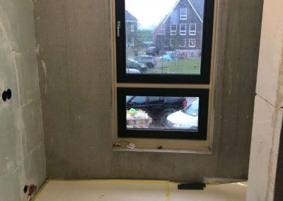 Afbouw woning numansdorp Meerkerk raam
