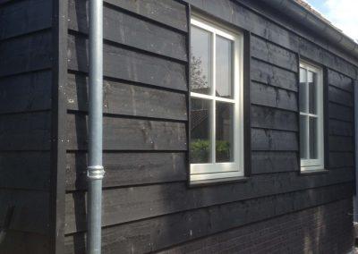 Niewbouwwoningen hofwegen 26 en 27 Bleskensgraaf nieuwe schuur zijkant