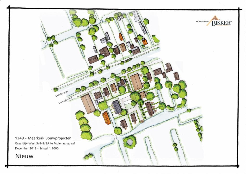 Verkaveling 17 woningen Graafdijk west Molenaarsgraaf